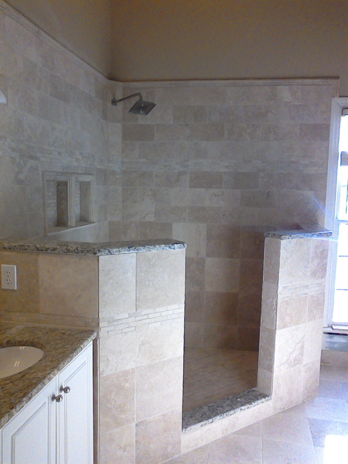 Tile shower floor repair raleigh nc master shower dailygadgetfo Image collections
