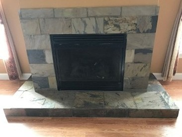 Tile Fireplace - Front View